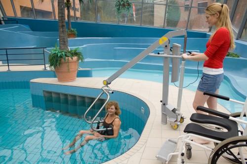 Lève-personne mobile de piscine, Systèmes de transfert