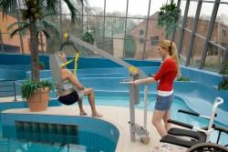 Fléau Classique , Lève-personne mobile de piscine , Sangle de bain , Sangle de bain avec support de tête