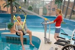 Fléau Classique , Lève-personne mobile de piscine , Sangle de bain