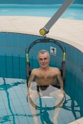 Fléau Classique , Lève-personne mobile de piscine , Handi-siège