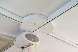 Rails de plafond , Aiguillage électrique rotatif